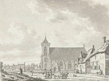 Blick auf die Kirche von Zoutelande, Jan Bulthuis