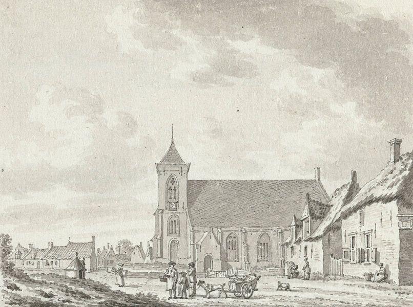Blick auf die Kirche von Zoutelande, Jan Bulthuis von Meesterlijcke Meesters