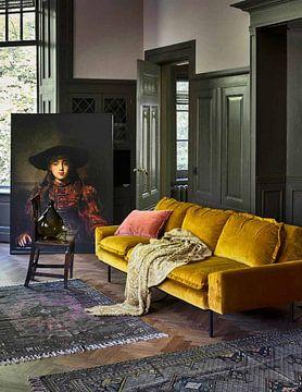 Kundenfoto: Mädchen im Bilderrahmen - Rembrandt van Rijn