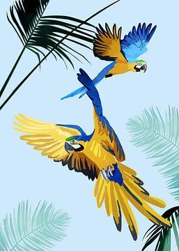 Papegaaien in de Lucht van Goed Blauw