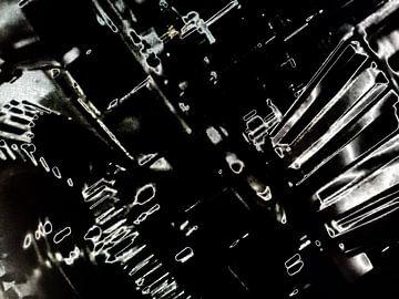 Abstract tandwielen van Maurice Dawson
