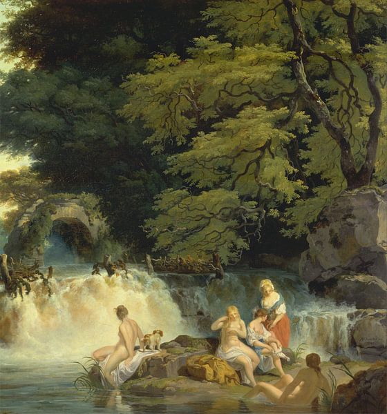 The Salmon Leap, Leixlip , Francis Wheatley von Meesterlijcke Meesters