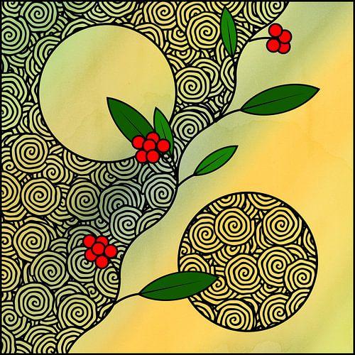Rote Yin-Yang-Beeren