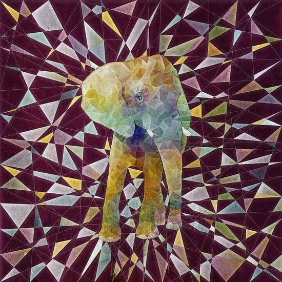 Abstakt Elefant van Anne Ebert