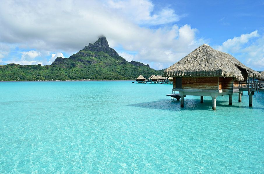 Tropisch paradijs resort in Bora Bora