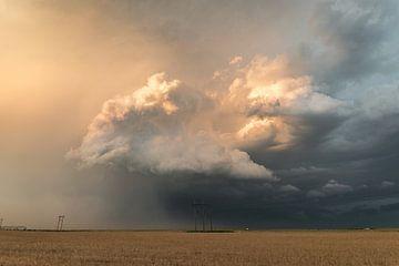 Onweer boven Texas van Menno van der Haven