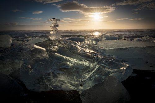 Eismandl am Diamantstrand von