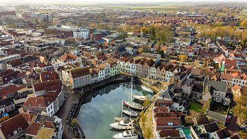 Le Stadshaven de Goes from the air