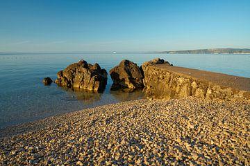 Lieu de baignade sur la côte de la ville de Krk en Croatie