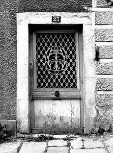 Alte Tür (schwarz-weiß)