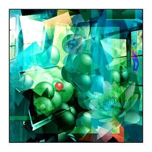 Abstracte snuisterij met een spatie