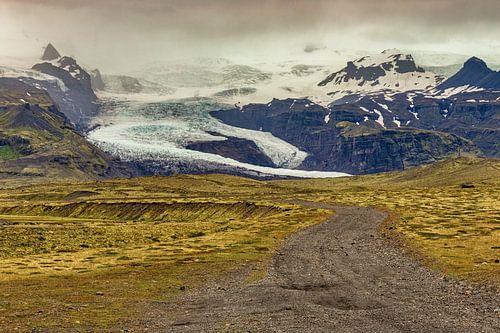 Weg langs Vatnajökull