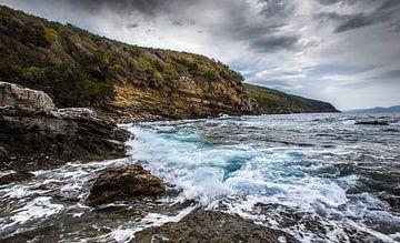 Prachtige kustlijn in Italië van Wim Brauns