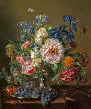 Stilleben mit Pfingstrosen, Rosen, Tulpen und Ranunkeln, Adriana Haanen