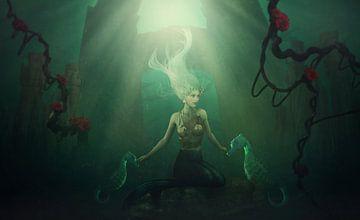 Meerjungfrau mit Seepferdchen von Atelier Liesjes