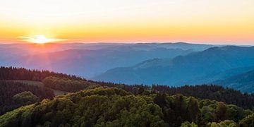 Blick vom Schauinsland im Schwarzwald von Werner Dieterich