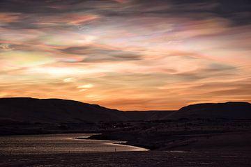 Perlmutt-Wolken von Elisa in Iceland