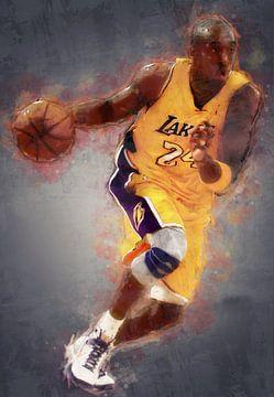 olieverf portret van Kobe Bryant