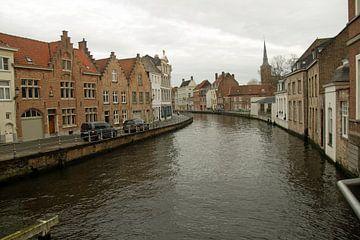 maisons au bord du canal à Bruges sur wil spijker