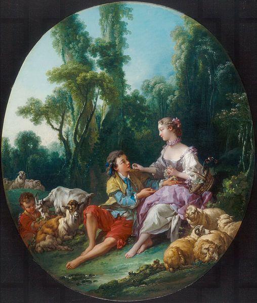 François Boucher - Denken ze aan de druif van 1000 Schilderijen
