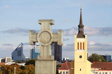 Estnisches Freiheitsdenkmal, Johanniskirche,Tallinn, Estland, Europa von Torsten Krüger