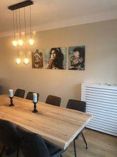 Kundenfoto: Freddie Mercury malerei von Jos Hoppenbrouwers, auf leinwand