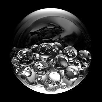 Glazen ballen in glazen bollen van Jörg Hausmann