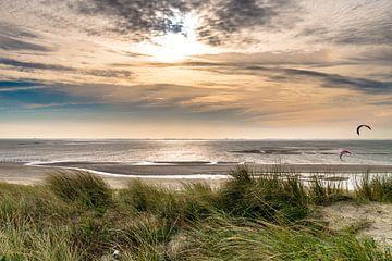Strand Maasvlakte Rotterdam 1 van Diana Kievit