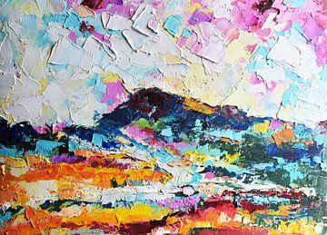 Rainbow Landscape 2 van Maria Kitano