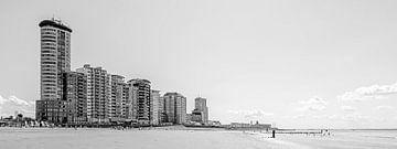 Skyline, Badestrand und Promenade von Vlissingen (Panorama) von Fotografie Jeronimo