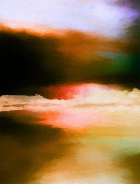 Abstrakte Landschaft 10 von Angel Estevez