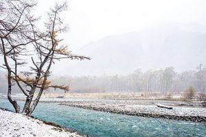 Japans winterlandschap van