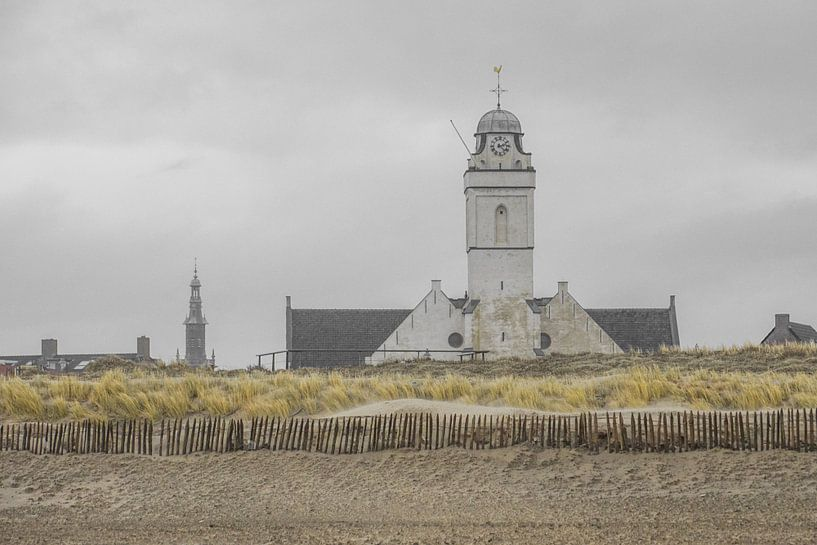 Kerk aan Katwijkse strand van Dirk van Egmond