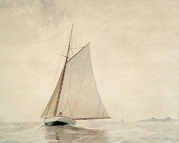 Sailing off the Coast of Glouchester van David Potter