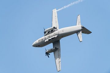 Alenia C-27J Spartan in een snelle bocht van