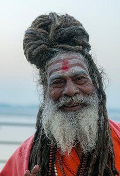 India: Sadhoe (Varanasi) van Maarten Verhees