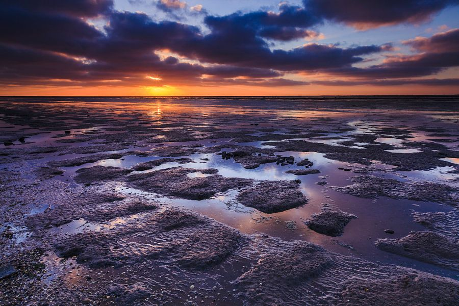 Zonsondergang aan de Noordkaap