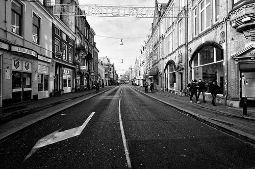 Een verlaten Nobelstraat in Utrecht van