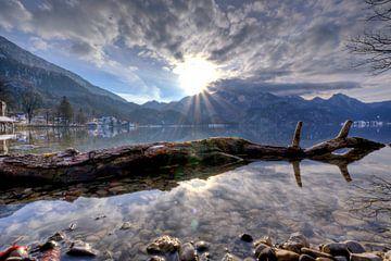 Zonnester aan de Walchensee van Roith Fotografie