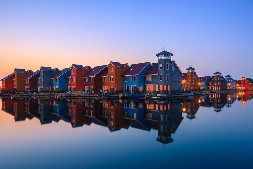 Reitdiephaven, Groningen, Nederland van Henk Meijer Photography