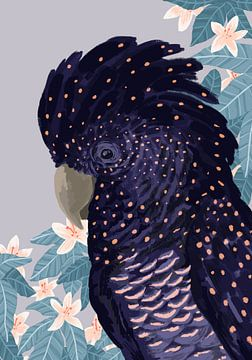 Zwarte Kaketoe van Goed Blauw