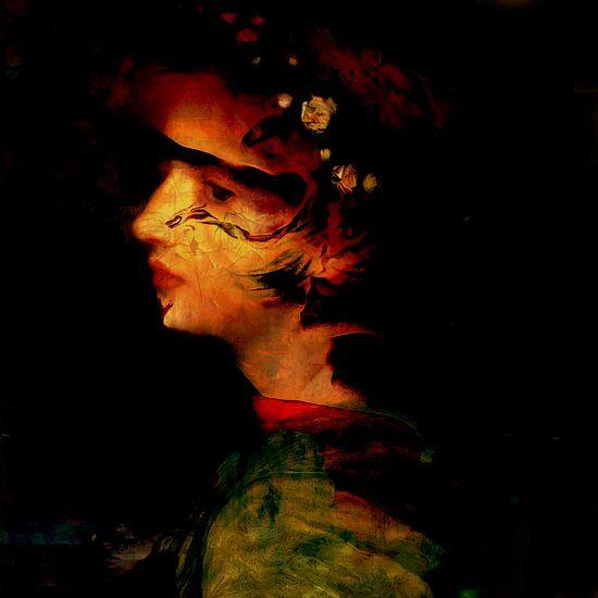 Klassiek collage met vrouw geen Medusa