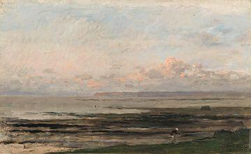 Strand bei Ebbe - Charles-François Daubigny von Meesterlijcke Meesters