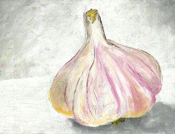 Stillleben mit Knoblauch van Andrea Meyer