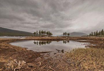 Stormachtig weer in Noorwegen (Pålsbufjorden - Geilo) van Marcel Kerdijk