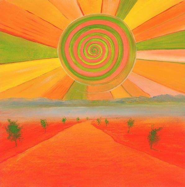 Spiralsonne sur Art Demo