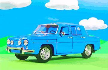 Deko für das Kinderzimmer - blaues Auto van Jean-Louis Glineur alias DeVerviers