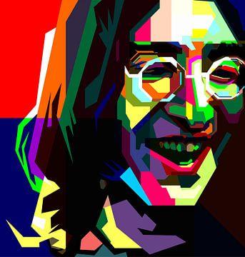 John Lennon Vollfarbe von Fariza Abdurrazaq