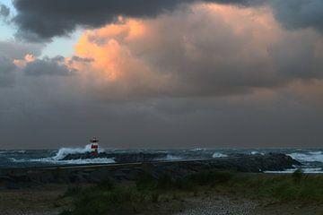 Springtij Scheveningen haven van Ed van Wageningen