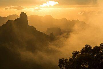 Roque Bentayga Gran Canaria, Canarische Eilanden van Peter Schickert